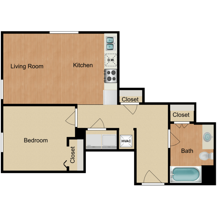 Floor plan image of 1 Bedroom F