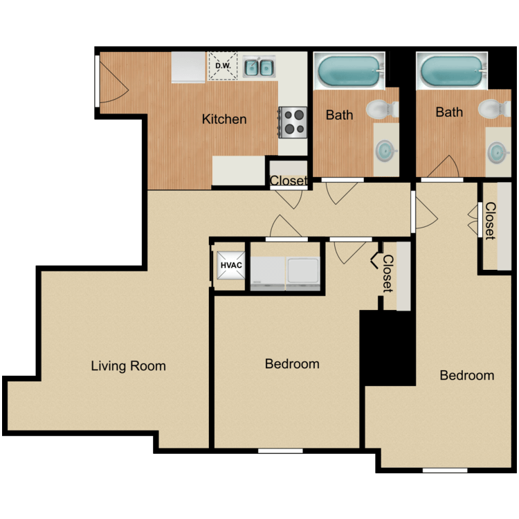 Floor plan image of 2 Bedroom B