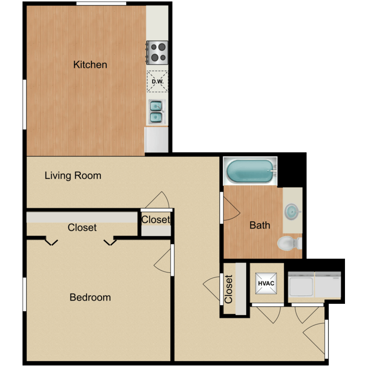 Floor plan image of 1 Bedroom C