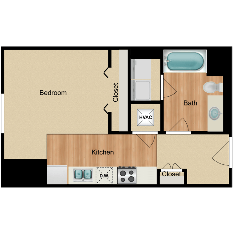 Floor plan image of Studio C