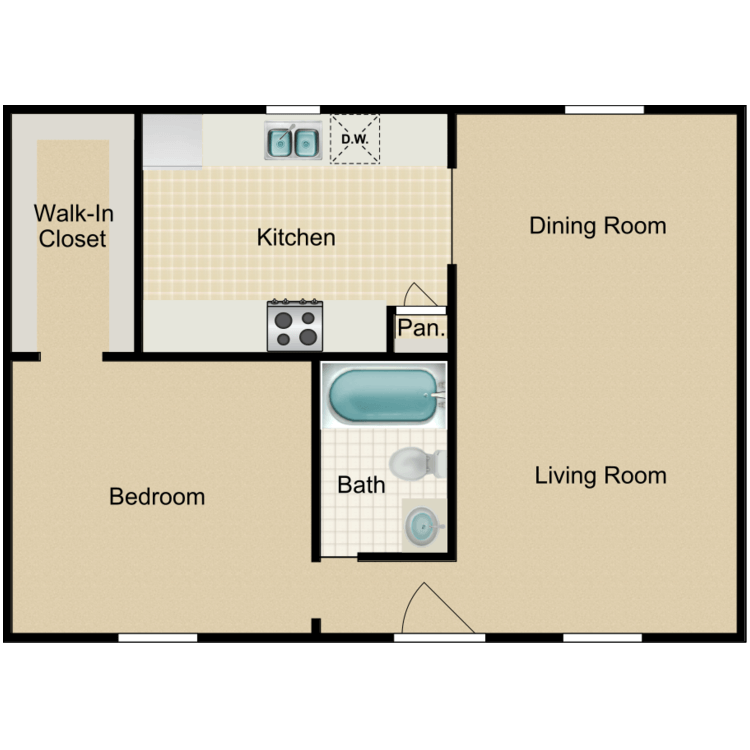 Floor plan image of 1A-HH