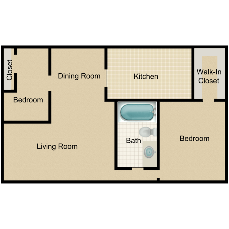 Floor plan image of 2A-HH