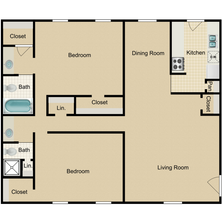 Floor plan image of 2C-HH