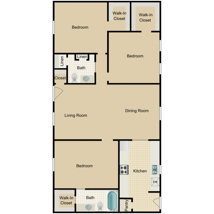 Floor plan image of 3A-HH