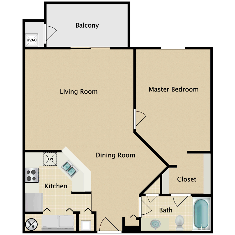 Floor plan image of Bristol Luxury