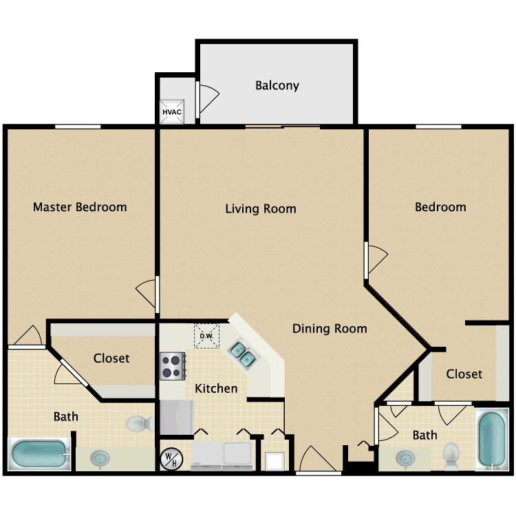 Floor plan image of Danbury Luxury