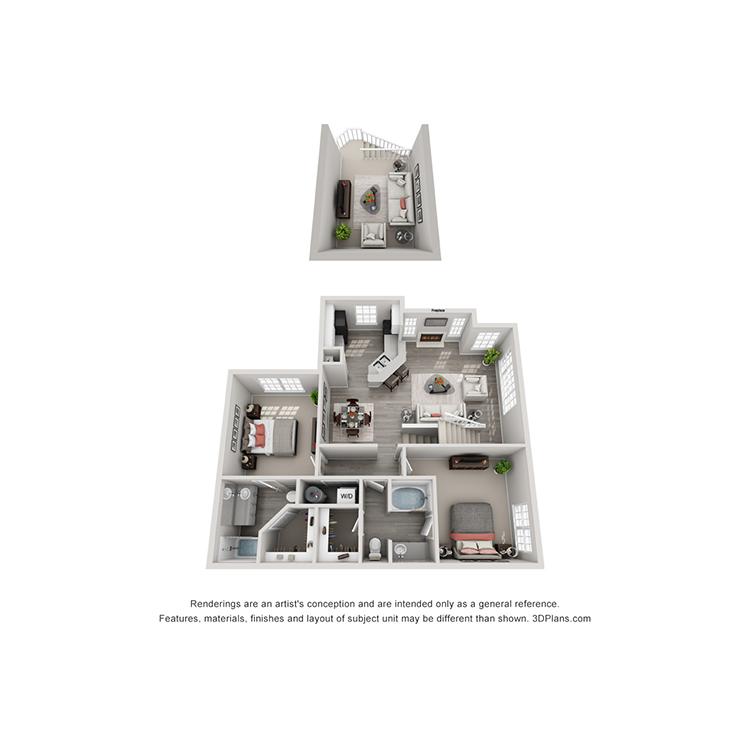 Floor plan image of B2 Loft