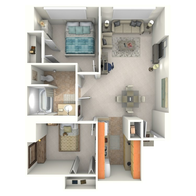 Floor plan image of 2 Bedroom