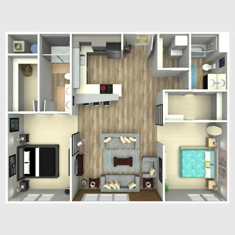 Floor plan image of 2 Bed 2 Bath - Ovation
