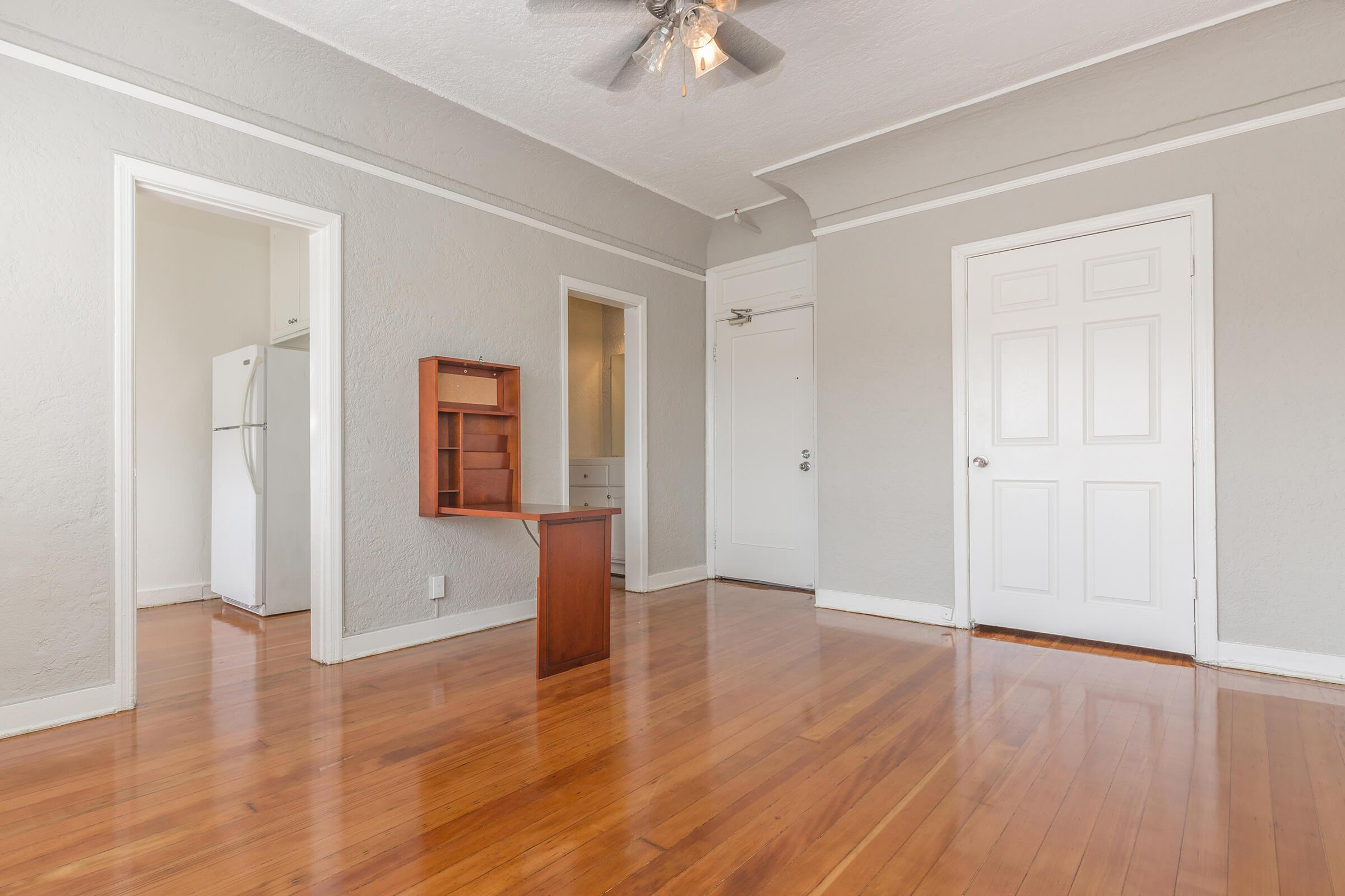 a room with a wooden floor
