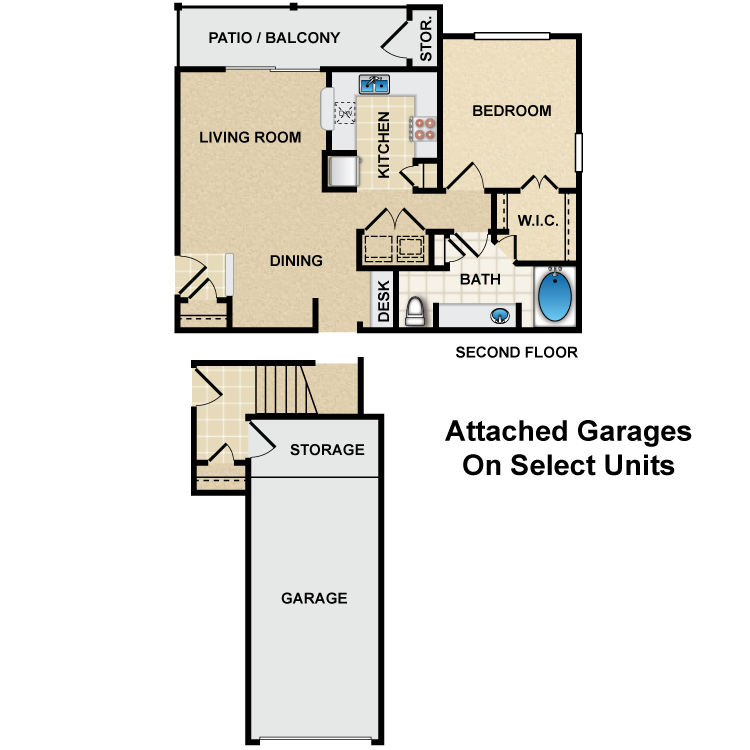 Floor plan image of A2 Degas
