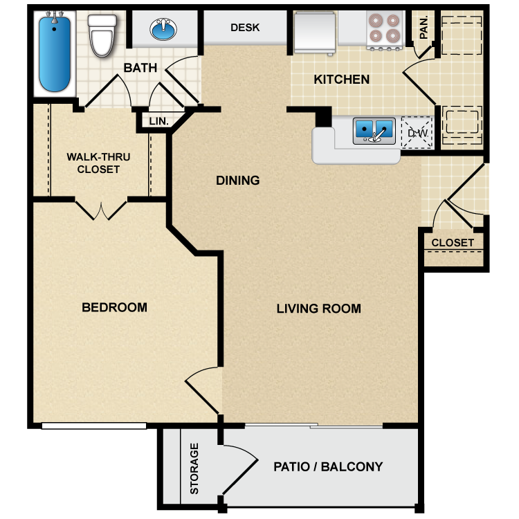 Floor plan image of A1 Monet