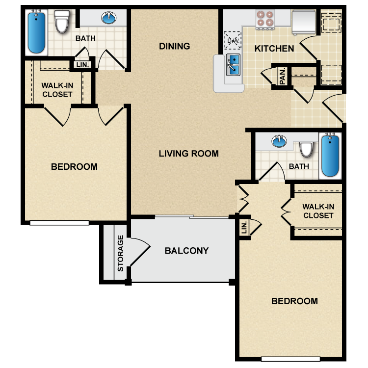 Floor plan image of B1 Picasso