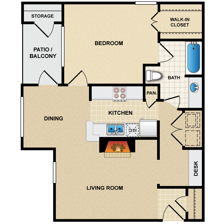 Floor plan image of A3 Renoir