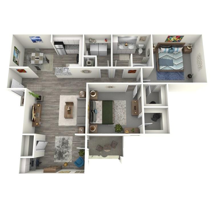 Floor plan image of Belmont Sunroom