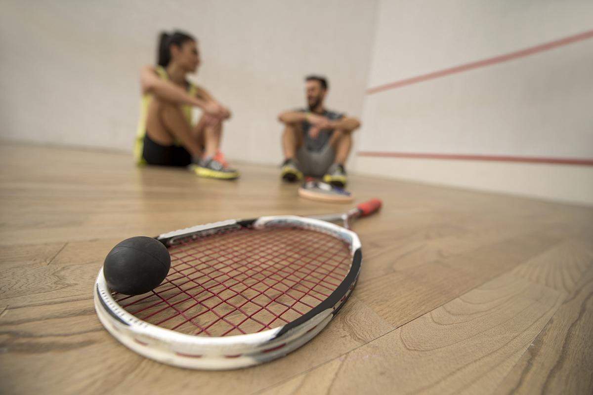 Squash Court with Paddle