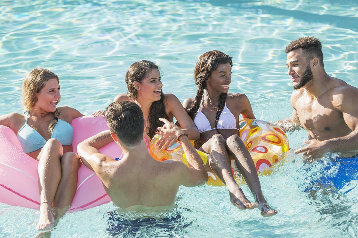 Friends Having Fun in Pool