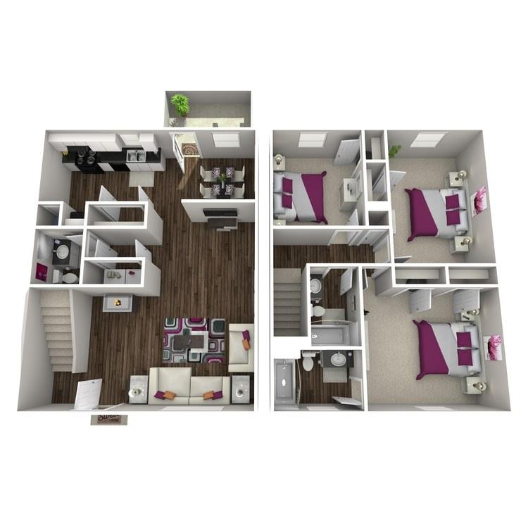 Floor plan image of Campanula Townhome