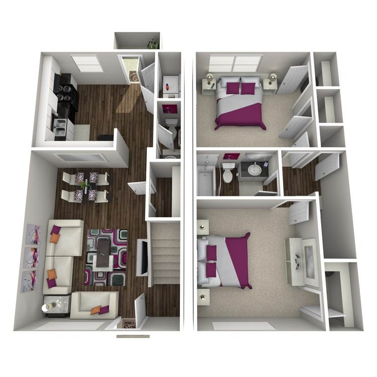 Floor plan image of Bamboo Townhome