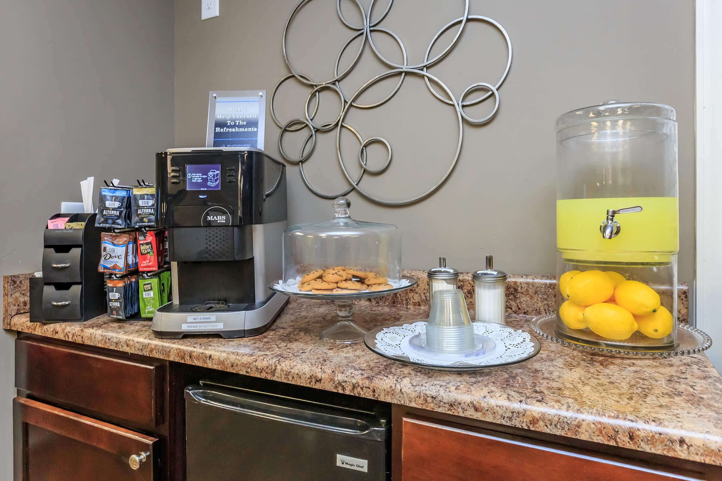 a blender sitting on top of a counter