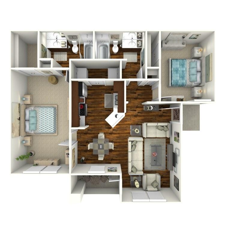 Floor plan image of Unit D2