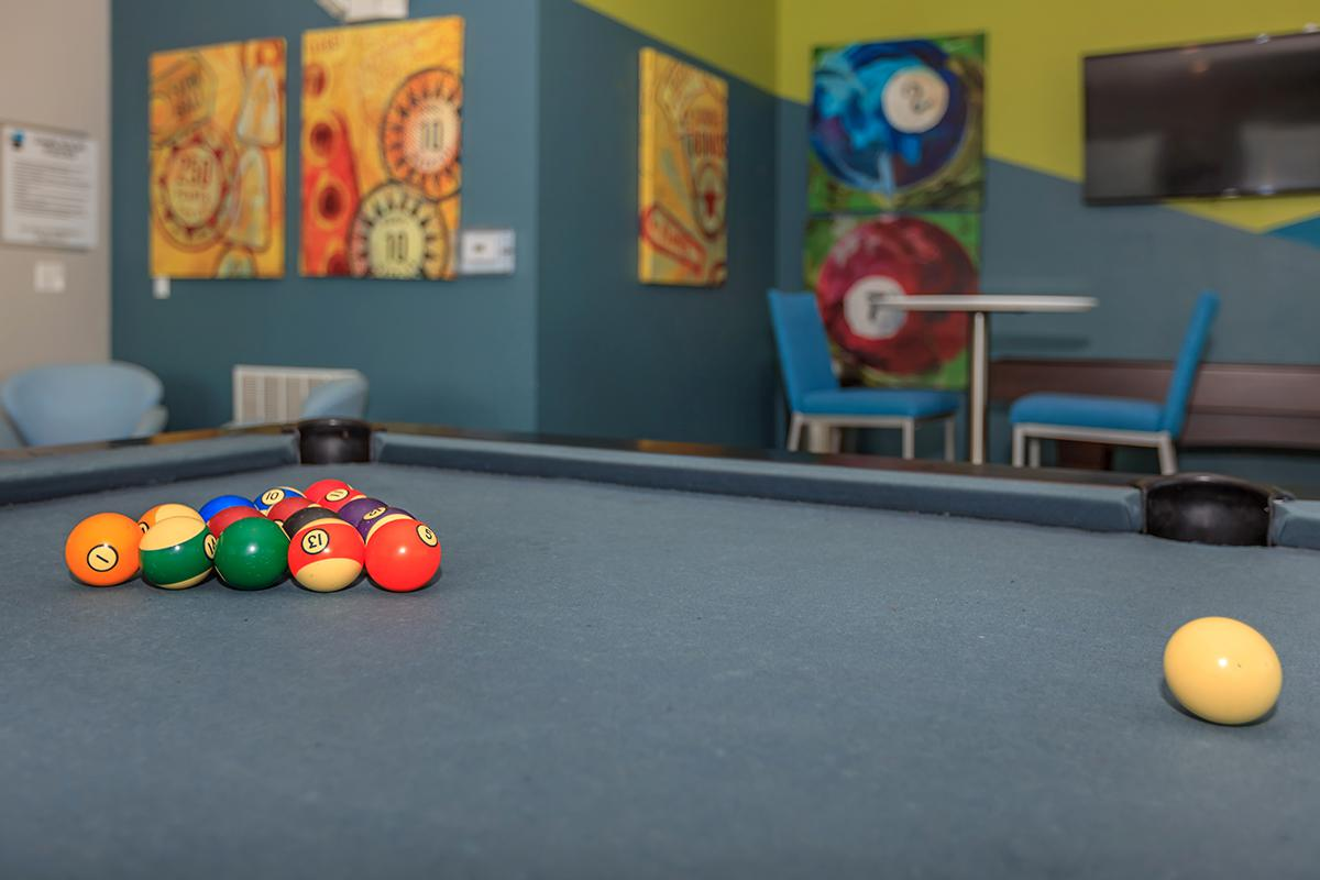 a colorful ball in a room