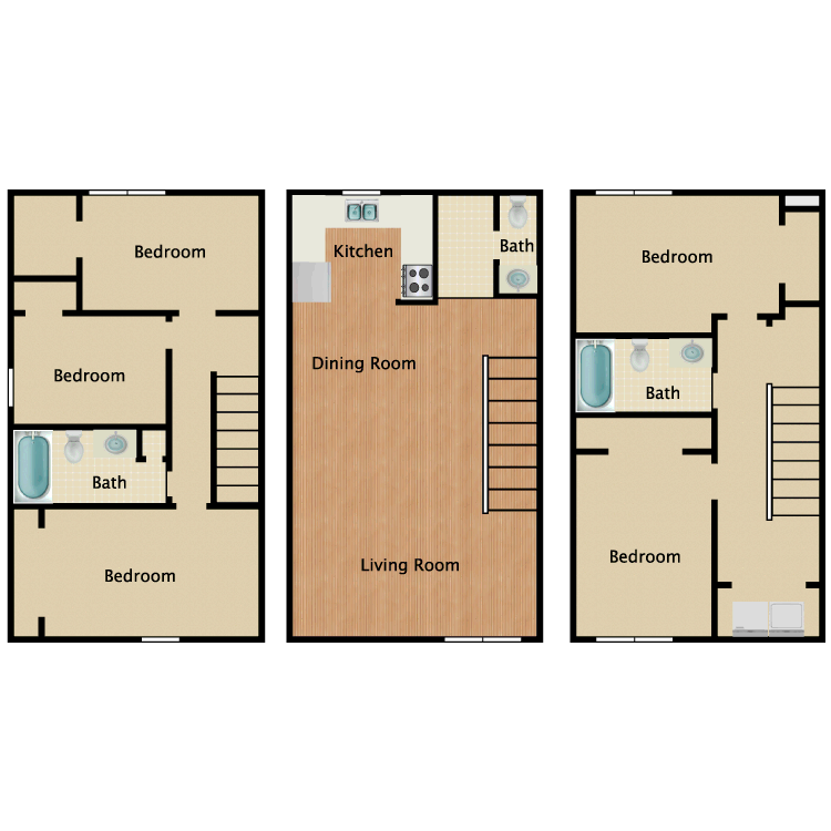 Floor plan image of 5 Bed 2.5 Bath