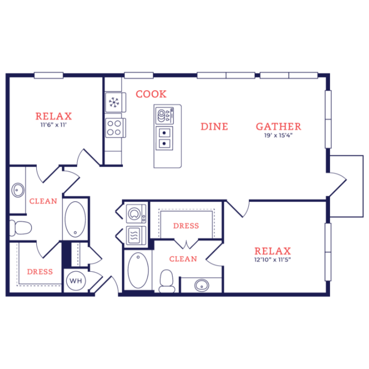 Floor plan image of Eames