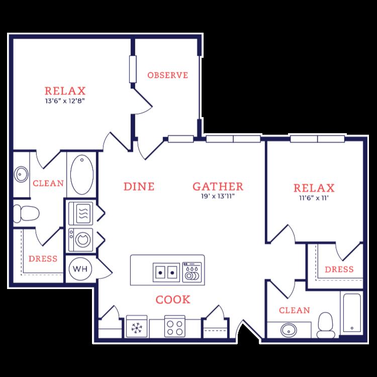 Floor plan image of Gehry