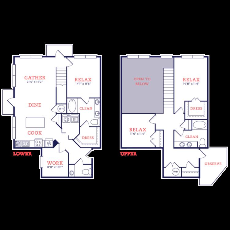 Floor plan image of Glaser