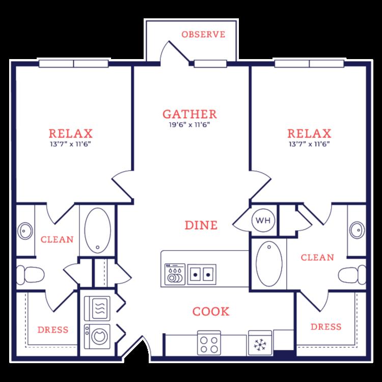 Floor plan image of Neutra