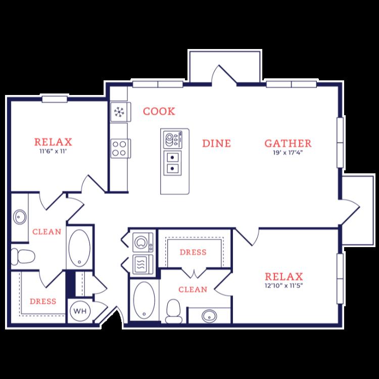 Floor plan image of Walter