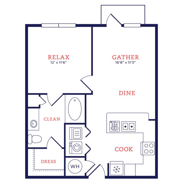 Floor plan image of Wright