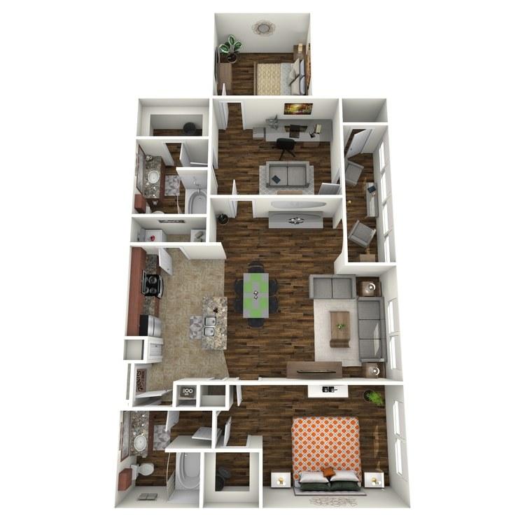 Floor plan image of B1B