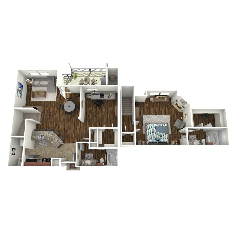 Floor plan image of A6 Townhome