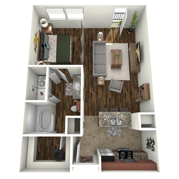 Floor plan image of E1A