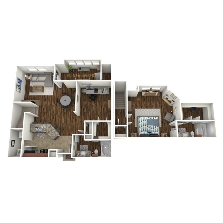 Floor plan image of A6 Townhome with Solarium