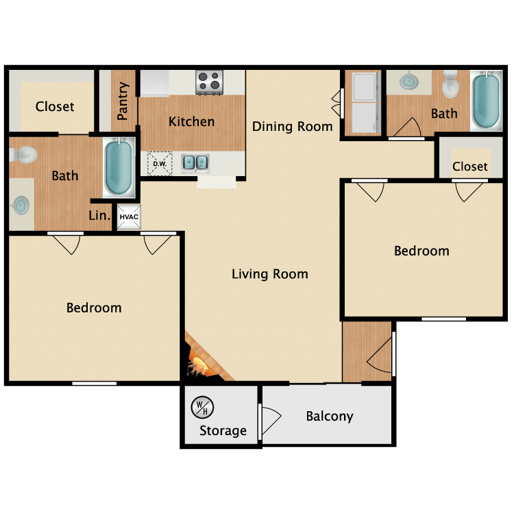 The Chateau floor plan image