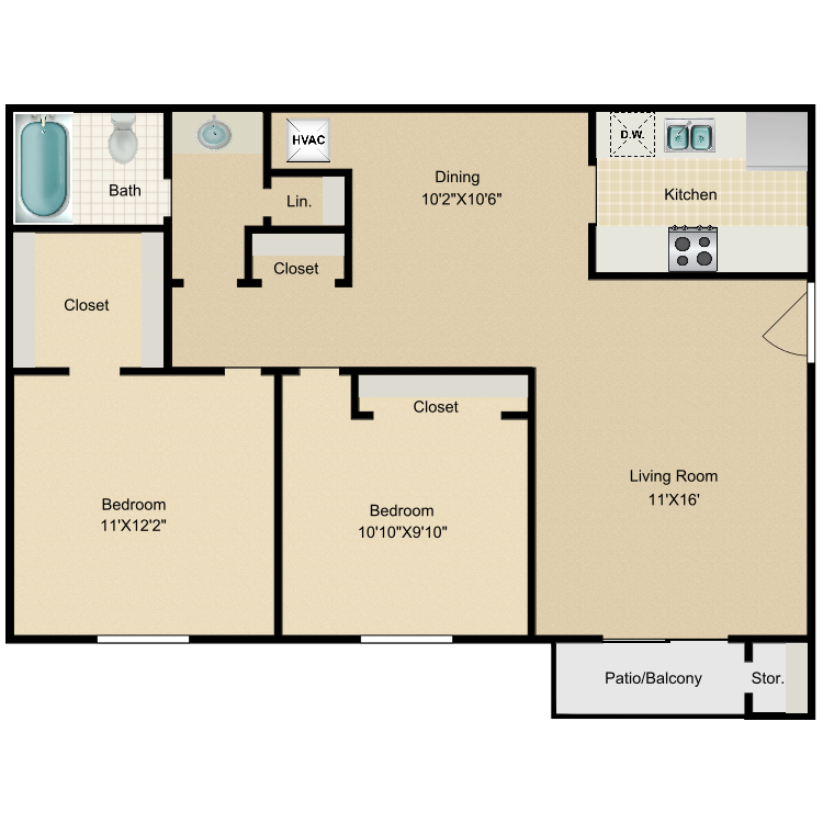 Floor plan image of The Morea