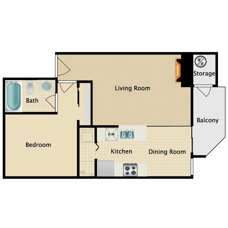 Floor plan image of The Collage