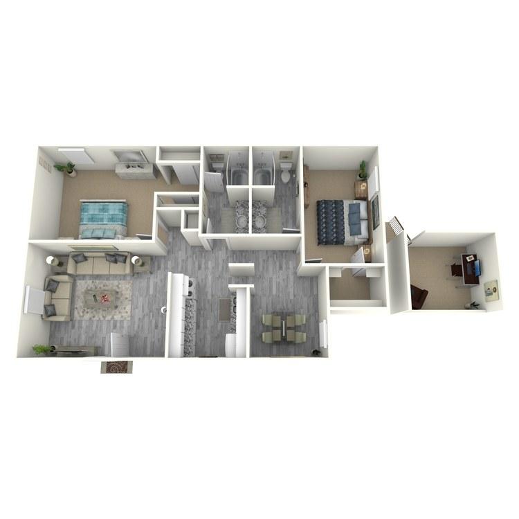 Floor plan image of B2-1