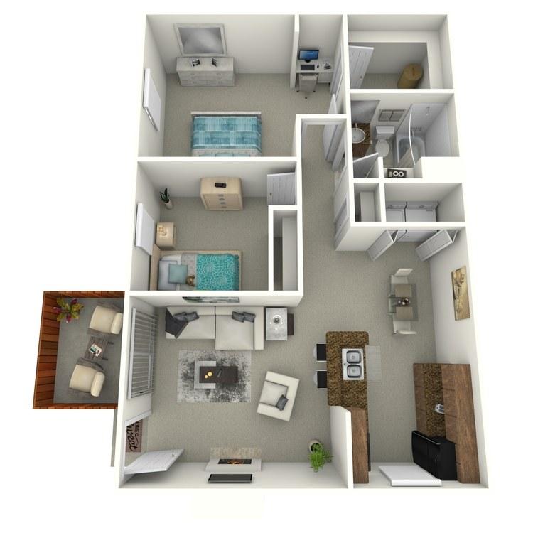 Floor plan image of 2 Bedroom End