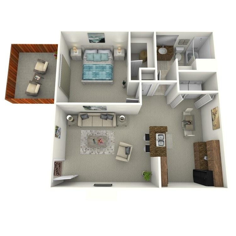Floor plan image of 1 Bedroom Middle