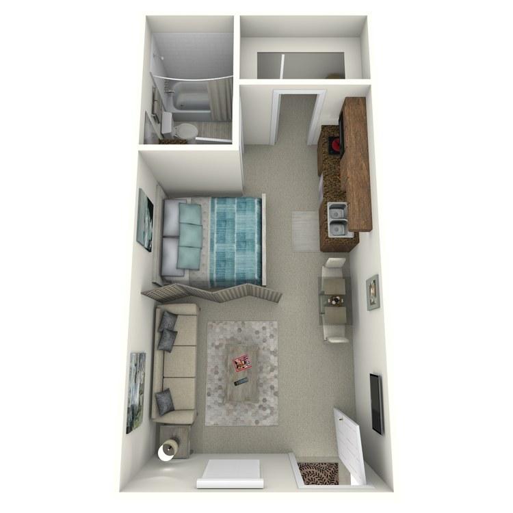Floor plan image of Studio R