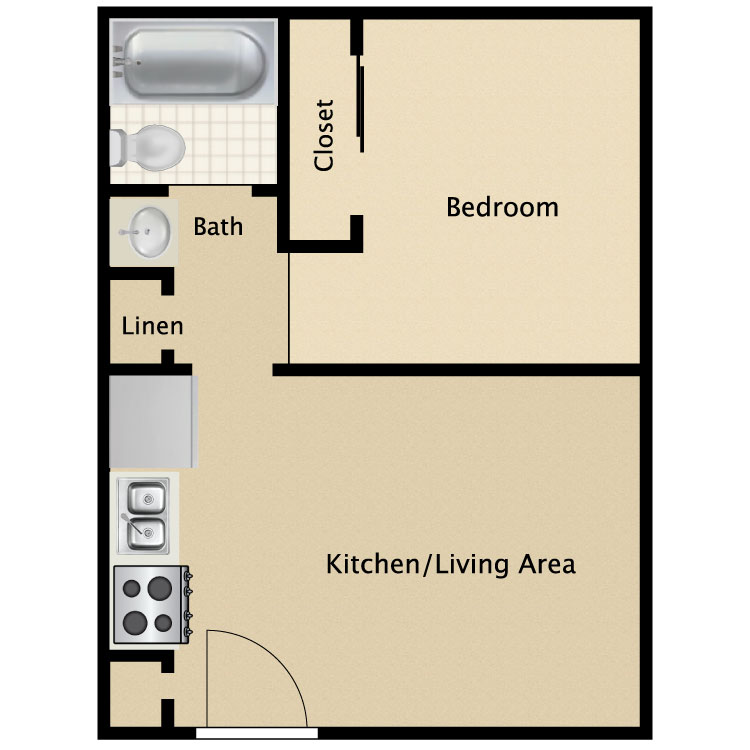 Simple 1 Bedroom Floor Plans Home Design Ideas