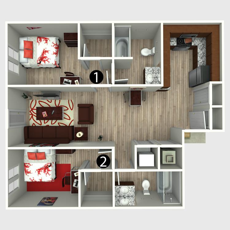 Floor plan image of 2C