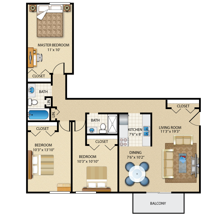 Floor plan image of The Somerset LX