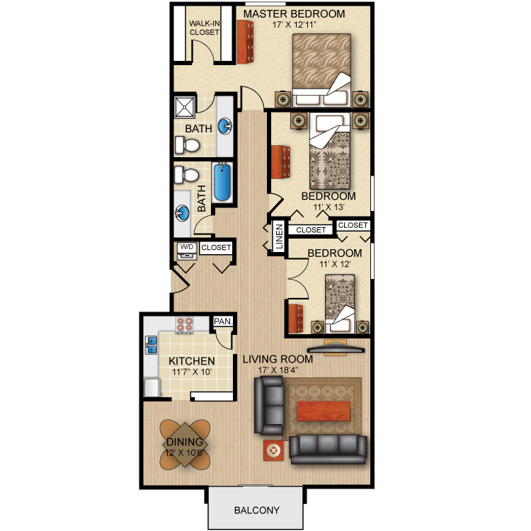 Floor plan image of The Townley
