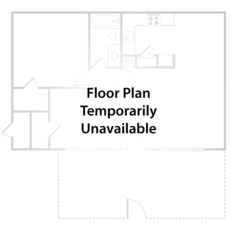 Floor plan image of 2 Bed 1 Bath Duplex + Patio