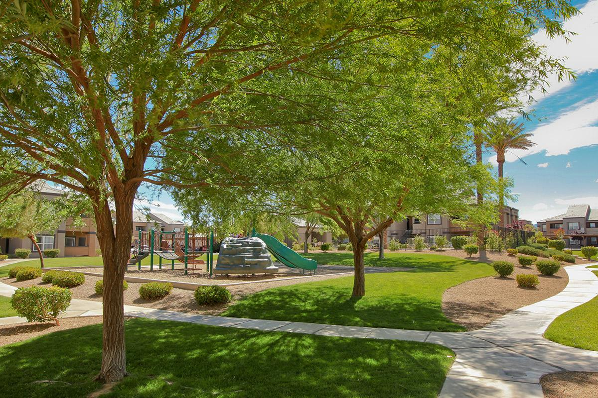 LOVELY SHADE TREES AT PINEHURST CONDOMINIUMS IN LAS VEGAS